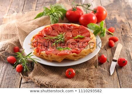 tomato quiche, tart tatin Stock photo © M-studio