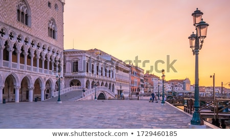 Venetian cityscape at sunrise Stock photo © Givaga