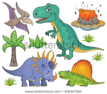 Styracosaurus dinosaur isolated. Ancient animal. Dino prehistori Stock photo © MaryValery