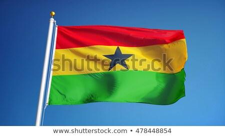 Ghana waving flag stock photo © Amplion