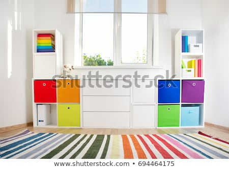 Toy and cupboard white background Stock photo © bluering