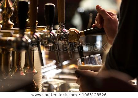 Cerveza oscuro pub vidrio fiesta Foto stock © Givaga