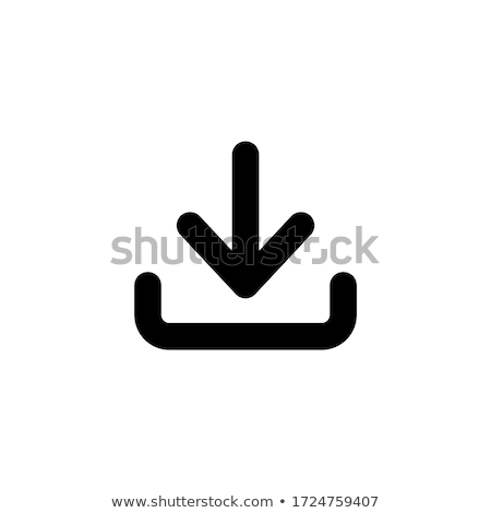 Downloaden downloaden icoon vector icon lang schaduw Stockfoto © smoki