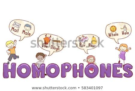 дети иллюстрация популярный детей девочек Сток-фото © lenm
