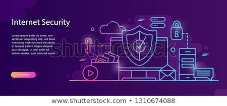 antivirüs · yazılım · iniş · web · sayfa · şablon - stok fotoğraf © rastudio