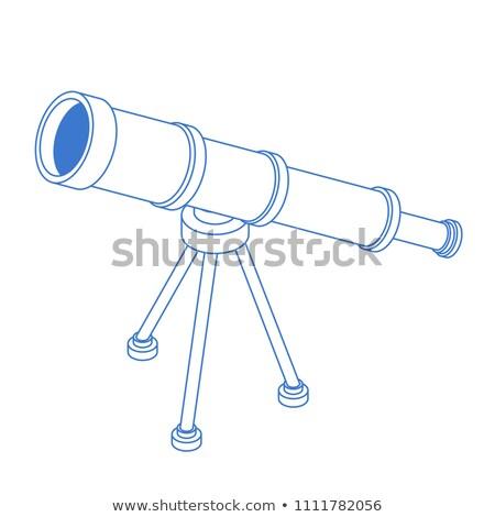 Telescopio aislado tubo stand diseno espacio Foto stock © MaryValery