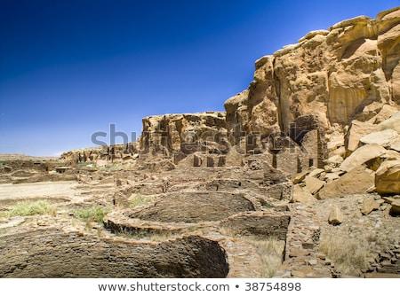 Taş duvar kanyon kuru Meksika Stok fotoğraf © fotogal