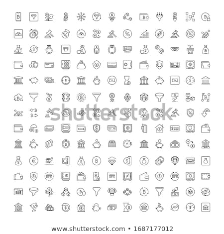 Business, technology, management and finances icon set collection. Flat vector illustration stock photo © makyzz