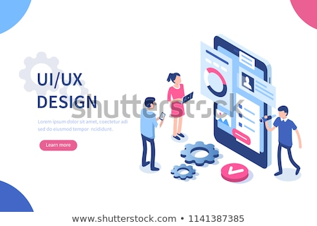 UI and UX design process Isometric flat vector. Stock photo © TarikVision