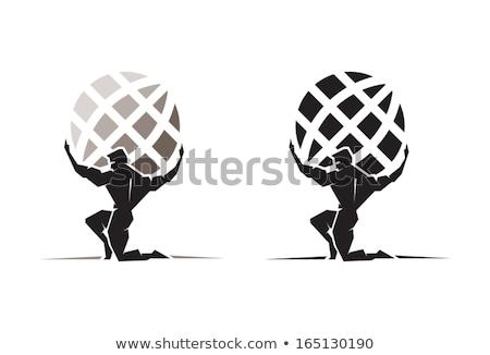 Atlas globo símbolo força grego Foto stock © Krisdog