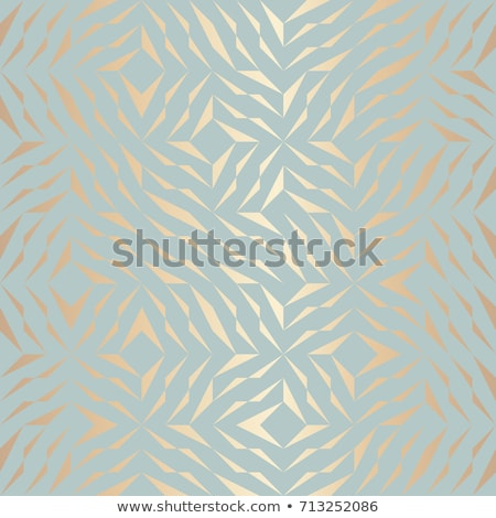 Stock photo: Seamless vector geometric golden element pattern. Abstract background copper texture on blue green.