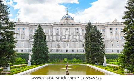 Street lights by Royal palace in Madrid Stock photo © boggy