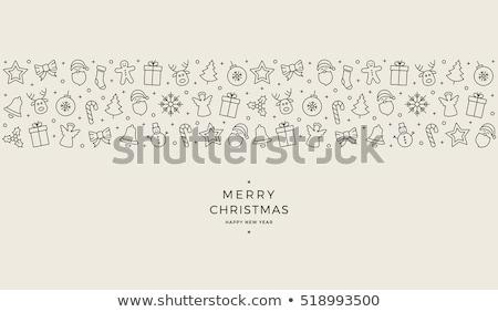 Rood · kerstmis · label · bes · helling - stockfoto © ikopylov