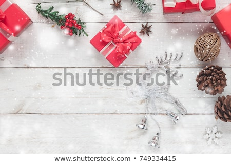 Frame of Crystal Snowflakes Stock photo © kostins