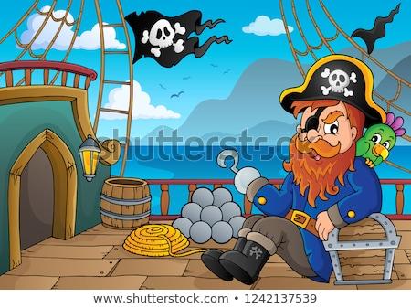 Foto stock: Pirata · buque · cubierta · hombre · mar · arte