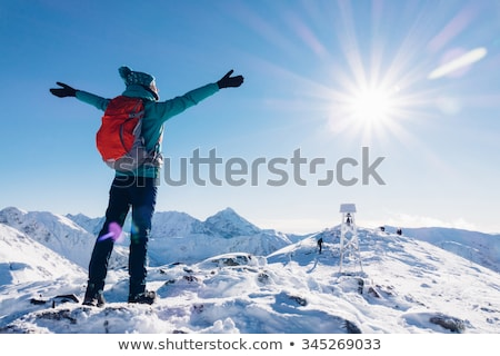 冬 · 山 · トレッキング · 木材 · アルプス山脈 · イタリア - ストックフォト © kotenko