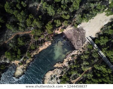 widok · z · lotu · ptaka · wyspa · turkus · wody · cichy · romantyczny - zdjęcia stock © amok