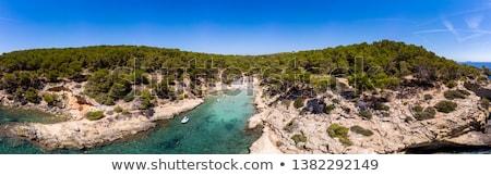 boné · praia · ilha · Espanha · turquesa · verde - foto stock © amok