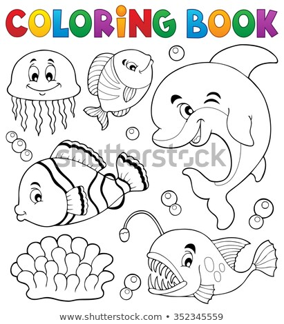 Animal outline for clownfish Stock photo © colematt
