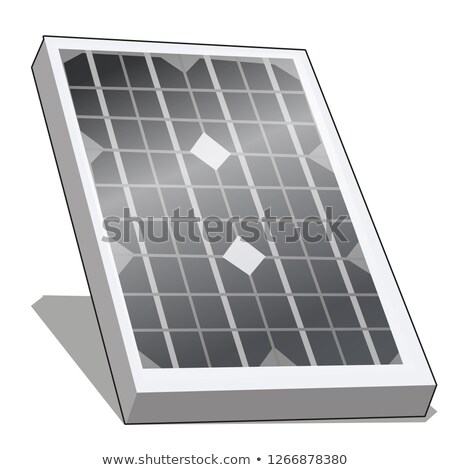 Napelem alternatív energia fotovoltaikus izolált fehér Stock fotó © Lady-Luck