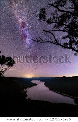 Milky Way Over Burragorang Lake Stock photo © lovleah