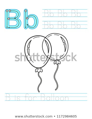 b is for educational game coloring book stock photo © izakowski