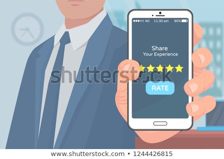 share experience rate mobile application vector stock photo © robuart