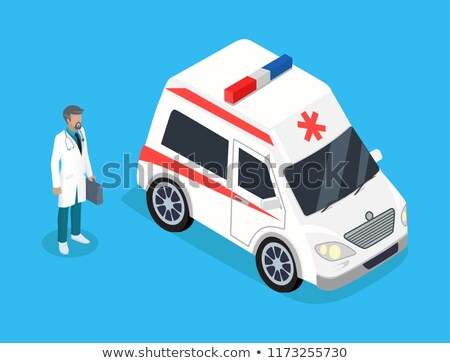 Doctor or Ambulanceman Realistic Projection Icon Stock photo © robuart
