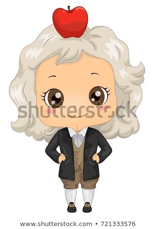 kid boy costume little newton illustration stock photo © lenm