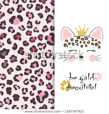 Cartoon leopardo amor bebé animales Foto stock © cthoman