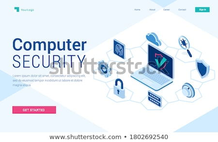 Malware computer virus concept landing page. Stock photo © RAStudio