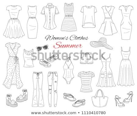 Wedge dessinés à la main doodle icône femmes Photo stock © RAStudio