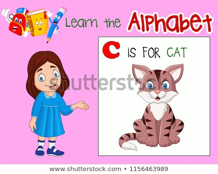 C Letter Flashcard with Cat for Alphabet Showing Stock photo © robuart
