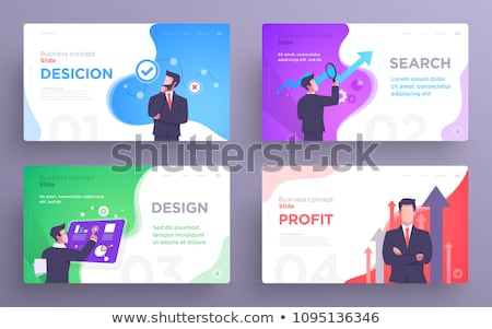 business success   modern flat design style web banner foto d'archivio © decorwithme