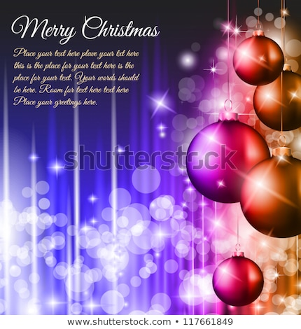 christmas party decoration red bow glass vector stock photo © robuart