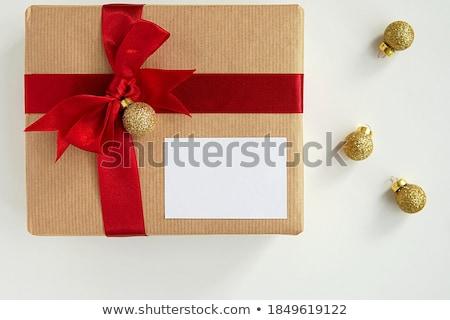 Köszönjük tapadó jegyzet ajándék doboz közelkép asztal Stock fotó © AndreyPopov