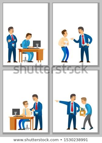 Worker Control, Bad Good Job, Dismissal of Worker Stock photo © robuart