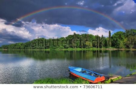 colorful rainbow over river stock photo © colematt