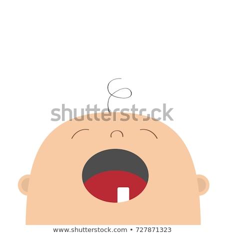 Cartoon baby dente cute spazzolino Foto d'archivio © mumut