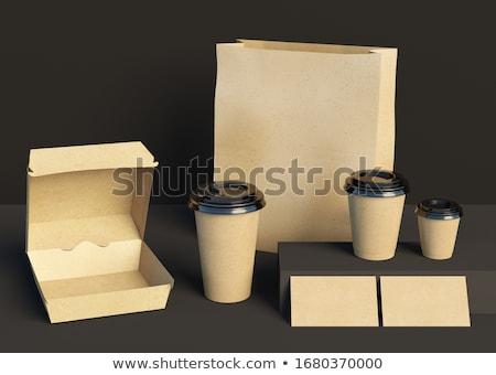Foto stock: Alimentos · entrega · 3D · plantilla · aterrizaje