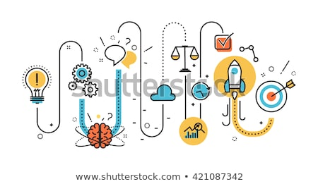 創造 アイデア バナー ヘッダ ビジネスチーム 電球 ストックフォト © RAStudio