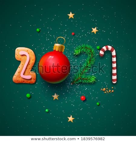 Arany jött új év renderelt kép 3d illusztráció boldog Stock fotó © Oakozhan