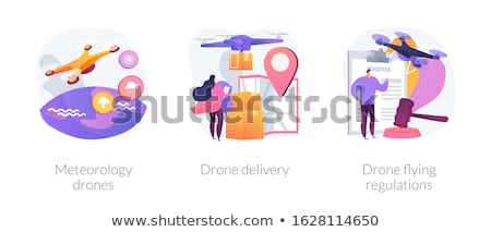 Meteorology drones concept vector illustration. Stock photo © RAStudio