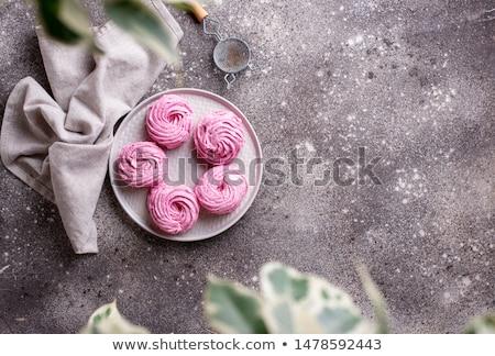 Purple berry homemade marshmellow on grey background Stock photo © furmanphoto