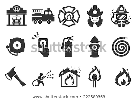 Fire station icon Stock photo © angelp