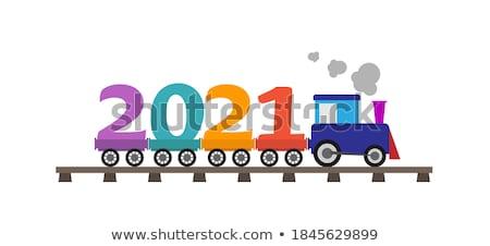 Kinderen trein nummers illustratie kind student Stockfoto © colematt
