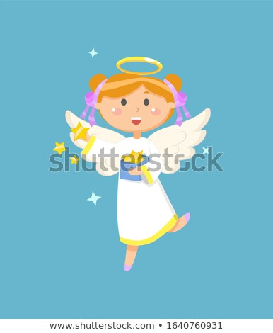 Angel with Box of Stars Christmas or Easter symbol Foto stock © robuart