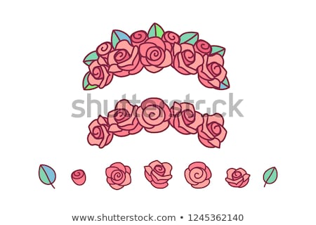 vector flower crown rose wreath stockfoto © VetraKori
