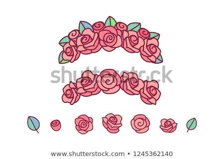vector flower crown rose wreath Foto d'archivio © VetraKori