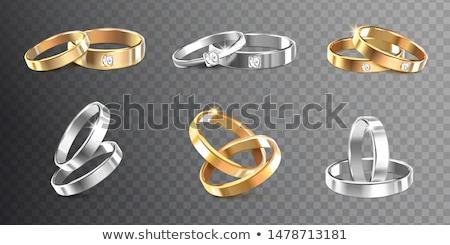 vector diamond bridal ring Photo stock © VetraKori